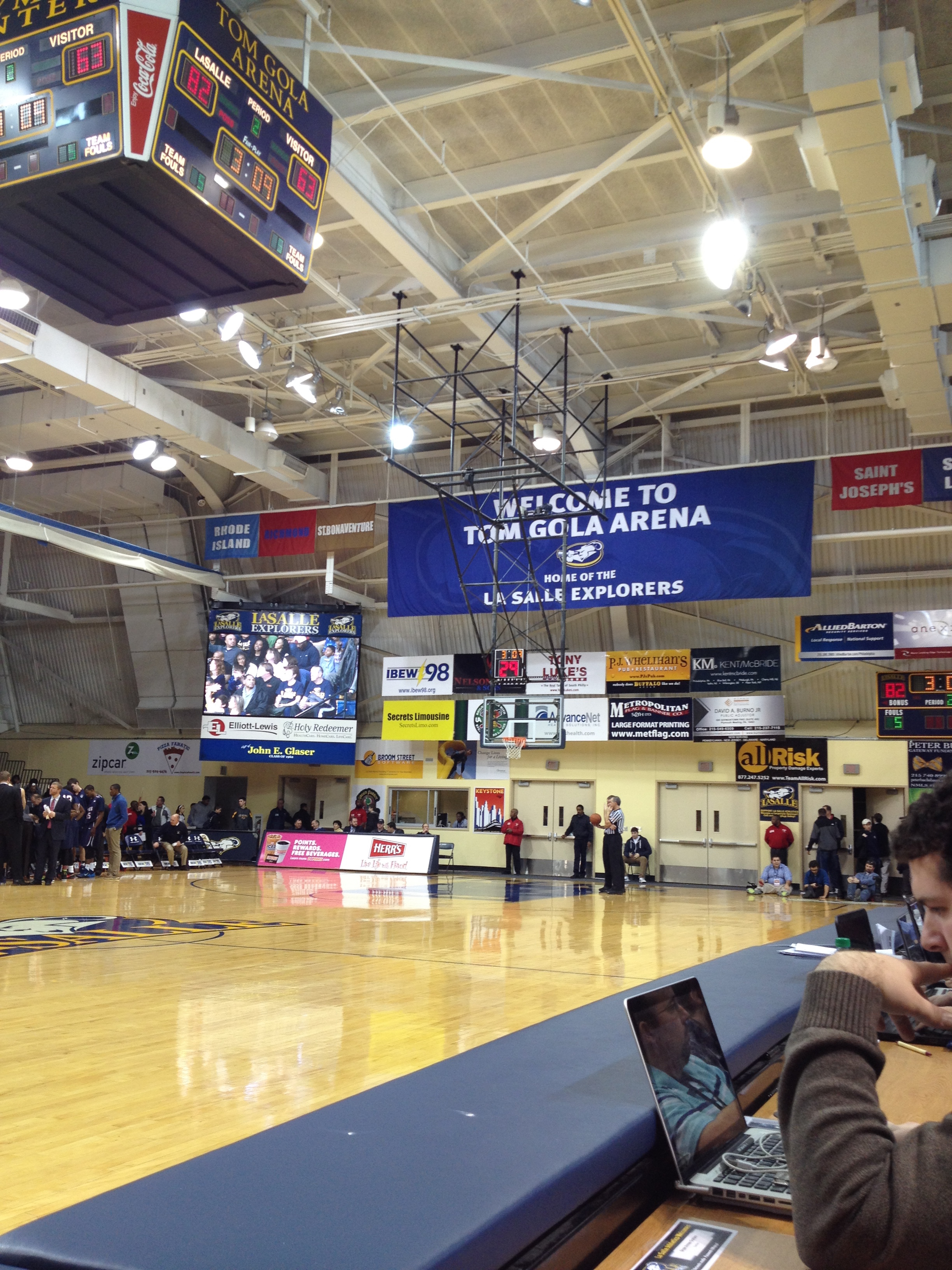 Podcast BLS Live from Tom Gola Arena Penn vs La Salle