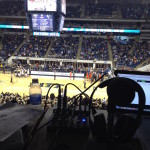 Our Broadcast Booth at the Peterson Events Center