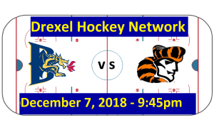 Video: Drexel vs. William Paterson University Hockey Game Broadcast